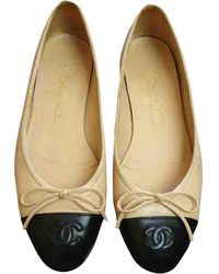 Chanel Leather Ballet Flats - Natural