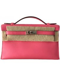 Hermès Kelly Clutch Leder Clutches - Pink