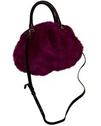 Dries Van Noten Faux Fur Mini Bag - Pink