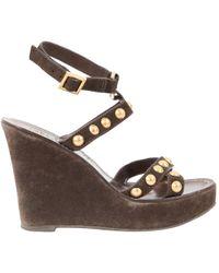 3afa82362fef Tory Burch - Heels - Lyst. Tory Burch - Miller Wedge Sandal ...