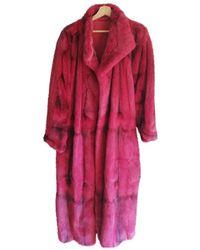 Dior Mantel en Vison Rouge