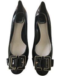 Dior Escarpins en Cuir verni Noir