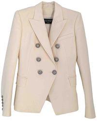 Balmain Wool Blazer - White
