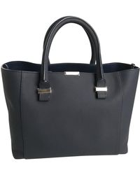 Victoria Beckham Mini Victoria Bag Navy Leather Handbag - Black