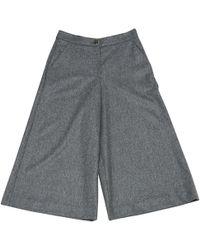 Vanessa Seward - Grey Wool Trousers - Lyst