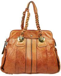 Chloé Héloise Orange Leather Handbag