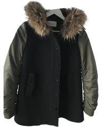 Sandro Wool Coat - Black