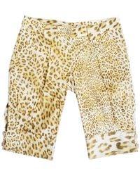 Roberto Cavalli Brown Cotton Shorts
