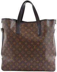 Louis Vuitton Leinen Shopper - Braun