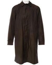 Lanvin - Brown Cotton Coat - Lyst