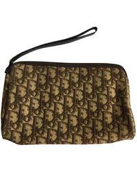 Dior Brown Cloth Travel Bag