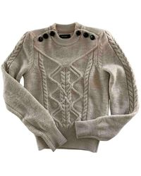 Isabel Marant Maglione. Gilet in lana ecru - Grigio