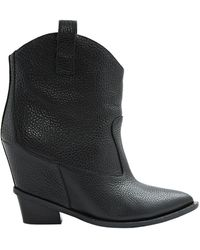 Giuseppe Zanotti - Black Leather Ankle Boots - Lyst