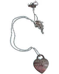Tiffany & Co. Collar en plata plateado - Multicolor