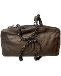 Chanel Leather Handbag - Brown