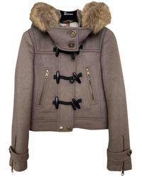 Burberry Wool Dufflecoat - Natural