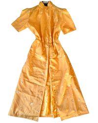 Max Mara Silk Mid-length Dress - Multicolor