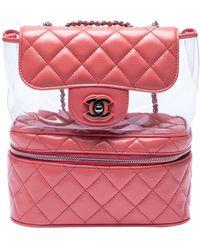 Chanel Leder Rucksäcke - Pink