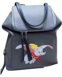 Loewe Goya Leather Backpack - Blue