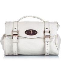 Mulberry Alexa Ecru Leather Handbag - White