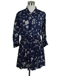 Thakoon Silk Mini Dress - Blue