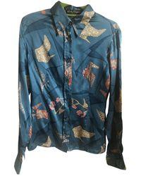 Ferragamo Silk Shirt - Blue