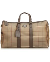 1ba807482db5 Burberry Vintage Check Travel Bag in Natural - Lyst
