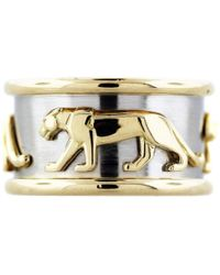 Cartier - Vintage Panthère Multicolour Yellow Gold Ring - Lyst