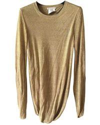 Michael Kors Gold Viscose Knitwear - Metallic
