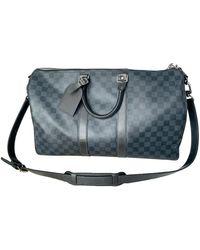 Louis Vuitton Keepall Reise tasche - Blau