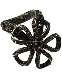 Lanvin Silver Metal Ring - Metallic