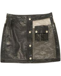 Belstaff - Black Leather Skirt - Lyst
