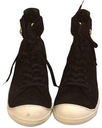 Louis Vuitton Baskets Trainer Sneaker Boot High en Cuir Noir