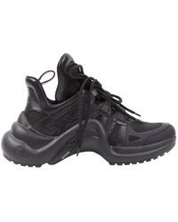 Louis Vuitton Archlight Black Rubber Sneakers