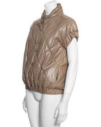 Bottega Veneta Leather Jacket - Natural