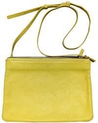Celine Trio Leather Handbag - Yellow