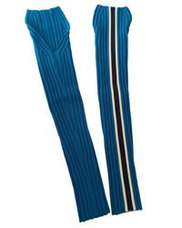 CALVIN KLEIN 205W39NYC Wool Long Gloves - Blue