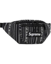 Supreme Black Cotton Small Bag Wallets & Cases - Red
