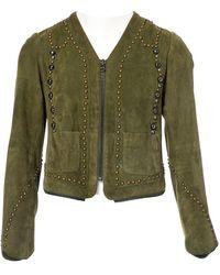 Zadig & Voltaire - \n Khaki Suede Jacket - Lyst