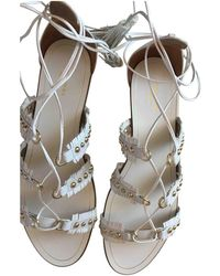 Aquazzura - Pre-owned Leather Sandals - Lyst