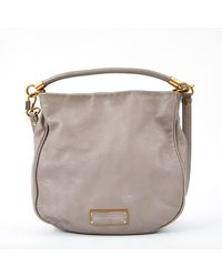 Marc By Marc Jacobs Grey Leather Handbag - Gray