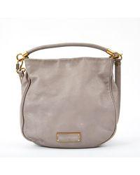 Marc By Marc Jacobs \n Grey Leather Handbag - Gray
