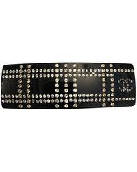 Chanel Accessorio per capelli in plastica nero