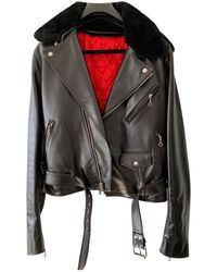 CALVIN KLEIN 205W39NYC Leather Jacket - Black