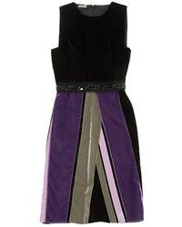 Bottega Veneta - Multicolour Velvet Dress - Lyst