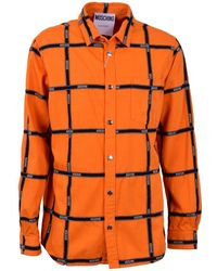Moschino - Pre-owned Orange Cotton Shirts - Lyst
