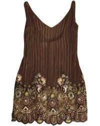 Valentino - Brown Dress - Lyst