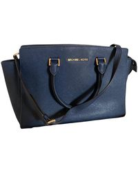 Michael Kors Selma Leather Handbag - Blue