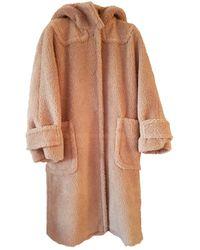 Max Mara Wool Coat - Natural