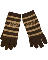 Moschino Brown Wool Gloves